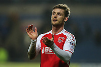 Goalscorer Conor McAleny of Fleetwood Town applauds the travelling fans after the Sky Bet League 1 match between Oxford United and Fleetwood Town at the Kassam Stadium, Oxford, England on 10 April 2018. Photo by David Horn.