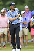 Louis Oosthuizen (RSA) tees off the par3 13th tee during Friday's Round 2 of the 2017 PGA Championship held at Quail Hollow Golf Club, Charlotte, North Carolina, USA. 11th August 2017.<br /> Picture: Eoin Clarke | Golffile<br /> <br /> <br /> All photos usage must carry mandatory copyright credit (&copy; Golffile | Eoin Clarke)