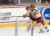 Blake Bolden (BC - 10) - The Boston College Eagles defeated the visiting Harvard University Crimson 3-1 in their NCAA quarterfinal matchup on Saturday, March 16, 2013, at Kelley Rink in Conte Forum in Chestnut Hill, Massachusetts.