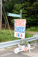 Bernie Sanders Road Sign - Warren, NH