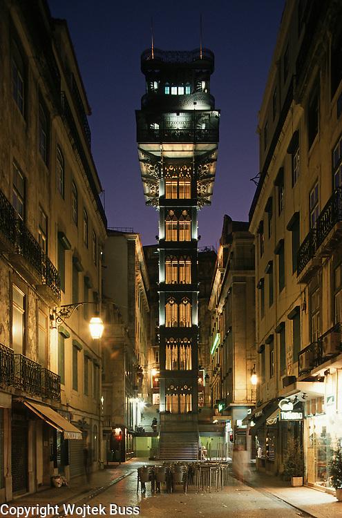 Portugal,Lisbon,escalator,Santa  Justa
