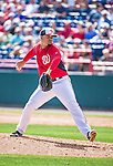 11 March 2014: Washington Nationals pitcher Manny Delcarmen on the mound during a Spring Training game against the New York Yankees at Space Coast Stadium in Viera, Florida. The Nationals defeated the Yankees 3-2 in Grapefruit League play. Mandatory Credit: Ed Wolfstein Photo *** RAW (NEF) Image File Available ***