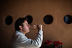 BAJA CALIFORNIA - NOVEMBER 26, 2013:  Ivan Hidalgo tastes wine at Hugo D'Acosta's La Casa de Piedra winery . Residents and wineries in Mexico's wine country are protesting the mayor's relaxing of zoning regulations they say will lead to a drastic change in the culture of  the popular tourist destination.  CREDIT: Max Whittaker for The New York Times