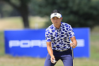 Daisuke Kataoka (JPN) on the 16th green during Saturday's Round 3 of the Porsche European Open 2018 held at Green Eagle Golf Courses, Hamburg Germany. 28th July 2018.<br /> Picture: Eoin Clarke | Golffile<br /> <br /> <br /> All photos usage must carry mandatory copyright credit (&copy; Golffile | Eoin Clarke)