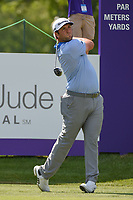 Jon Rahm (ESP) watches his tee shot on 10 during round 2 of the WGC FedEx St. Jude Invitational, TPC Southwind, Memphis, Tennessee, USA. 7/26/2019.<br /> Picture Ken Murray / Golffile.ie<br /> <br /> All photo usage must carry mandatory copyright credit (© Golffile | Ken Murray)