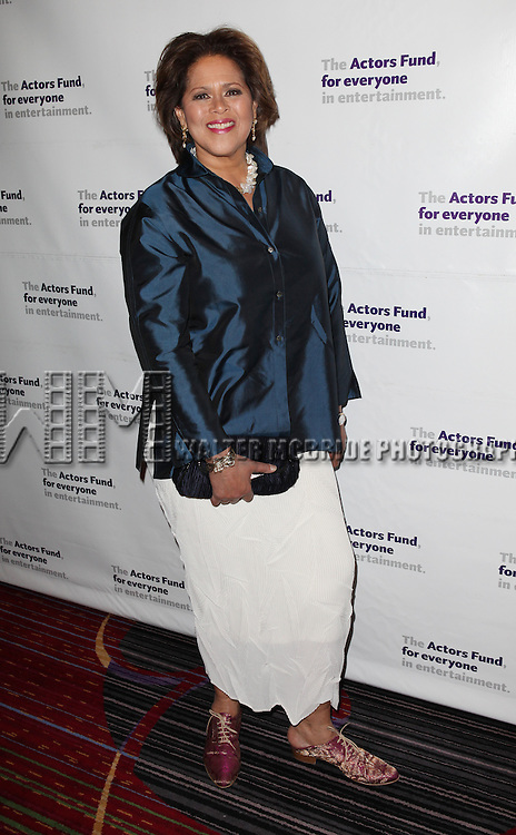 Anna Deavere Smith.attending the Actors Fund Gala honoring Harry Belafonte, Jerry Stiller, Anne Meara & David Steiner at the Mariott Marquis Hotel in New York City on 5/21/12