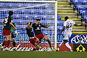 Jon Ashton of Stevenage clears from Michail Antonio of Reading.Reading v Stevenage - FA Cup 3rd Round - Madejski Stadium,.Reading - 7th January, 2012.© Kevin Coleman 2012