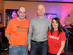 Paul McGovern and his wife Karen with main sponsor Gerry O'Dowd at the MS fundraiserin the Valley Inn. Photo:Colin Bell/pressphotos.ie