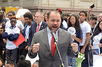 NEW YORK, NY - SEPTEMBER 13: Speaker of the NYC Council, Corey Johnson attends the Fifth Annual Come Together: NYC Bed-In Celebration at City Hall on September 13, 2018 in New York City. <br /> CAP/MPI/RH<br /> &copy;RH/MPI/Capital Pictures