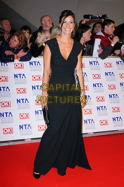 Julia Bradbury .arrivals at The National Television Awards, O2 Greenwich, London, England. 25th January 2012.NTA NTAS full length black dress.CAP/CJ.©Chris Joseph/Capital Pictures.