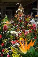 Dia de la Santa Muerte is celebrated every first of the month with ite shrine in the Neighbourhood of Tepito in Mexico City.  Saturday, September 1st, 2007