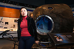 Soyeon Yi made headlines in 2008 as Korea's first astronaut, where she conducted research for 10 days at the International Space Station. Yi stands near a Russian Soyuz space capsule like the one she flew in. Today, she volunteers at The Museum of Flight Charles Simonyi Space Gallery and lives southeast of Seattle in an area she says reminds her of the farmland on which she grew up. Photo by Daniel Berman for Cosmopolitan.com