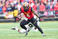 College Park, MD - OCT 1, 2016: Maryland Terrapins wide receiver William Likely (4) in action during game between Maryland and Purdue at Capital One Field at Maryland Stadium in College Park, MD. The Terps got the win 50-7 over visiting Purdue. (Photo by Phil Peters/Media Images International)