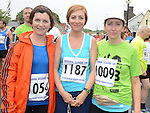 Catriona McDonnell, Sinead and Denise Winters who ran the Integral Clogherhead 10K. Photo:Colin Bell/pressphotos.ie