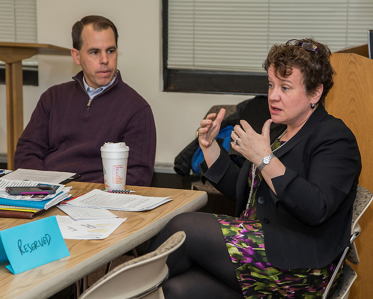 DePaul University's Division of Student Affairs held a meeting for their senior staff in the Loop Friday, Feb. 6, 2015. (DePaul University/Jamie Moncrief)