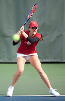 STANFORD, CA - April 14, 2011: Nicole Gibbs of Stanford women's tennis during Stanford's dual against St. Mary's. Stanford won 6-1. Gibbs defeated St. Mary's Anna Chkhikvishvilli 6-1, 6-0.