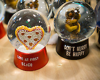 A selection of novelty snow globes in a store in New York on Friday, December 23, 2016. (© Richard B. Levine)