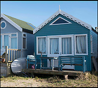 BNPS.co.uk (01202 558833)<br /> Pic: LauraDale/BNPS<br /> <br /> In 2015 Hut 78, was on the market for &pound;200,000, after a refurb it is now on for &pound;280,000.<br /> <br /> Britain's most expensive beach hut?<br /> <br /> A luxury beach hut has gone on the market for &pound;280,000 - despite having no running water, mains electricity or toilet.<br /> <br /> The wooden cabin is on the exclusive Mudeford Spit in Christchurch, Dorset, which is home to the most expensive beach huts in the country.<br /> <br /> The price tag on this one beats the previous highest at the same sandy spit, Hut 128 - a similar cabin which sold for &pound;275,000 earlier this year.<br /> <br /> The remote sandbank can only be accessed by foot, novelty land train or ferry but its isolated position is what gives it its exclusivity.