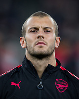 Jack Wilshere of Arsenal ahead of the UEFA Europa League group stage match between Arsenal and FC Red Star Belgrade at the Emirates Stadium, London, England on 2 November 2017. Photo by PRiME Media Images.