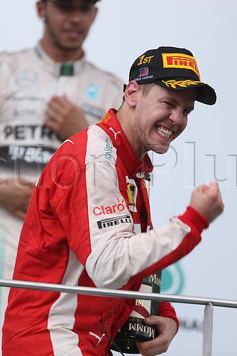 29.03.2015. Sepang, Kuala Lumpur, Malaysia. Formula One grand prix of Malayasia race day.  <br /> #5 Sebastian Vettel (GER, Scuderia Ferrari),