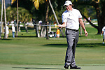 DORAL, FL. - Phil Mickelson watches his putt during final round play at the 2009 World Golf Championships CA Championship at Doral Golf Resort and Spa in Doral, FL. on March 15, 2009