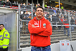Sandhausens Trainer Alois Schwartz  im Spiel der 2. Bundesliga, SV Sandhausen - Rasen Ballsport Leipzig.<br /> <br /> Foto &copy; P-I-X.org *** Foto ist honorarpflichtig! *** Auf Anfrage in hoeherer Qualitaet/Aufloesung. Belegexemplar erbeten. Veroeffentlichung ausschliesslich fuer journalistisch-publizistische Zwecke. For editorial use only.