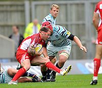 Oxford, England. Neil Briggs of London Welsh in action during the Aviva Premiership match between London Welsh  and Leicester Tigers at Kassam Stadium on September 2, 2012 in Oxford, England.