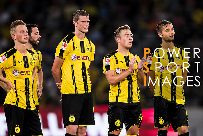Borussia Dortmund squad reacts against Manchester City FC during their 2016 International Champions Cup China match at the Shenzhen Stadium on 28 July 2016 in Shenzhen, China. Photo by Victor Fraile / Power Sport Images
