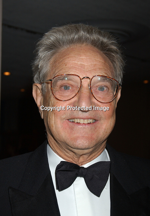 George Soros                              ..at the United Nations at  the First UNCA Citizen of the World Award from the United Nations Correspondents Association on October 22, 2003. Photo by Robin Platzer, ..Twin Images