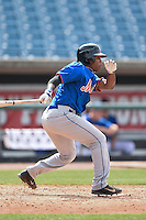 Troy Dixon (2) of UMS-Wright High School in Mobile, Alabama playing for the New York Mets scout team during the East Coast Pro Showcase on August 1, 2014 at NBT Bank Stadium in Syracuse, New York.  (Mike Janes/Four Seam Images)