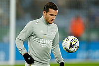 4th January 2020; King Power Stadium, Leicester, Midlands, England; English FA Cup Football, Leicester City versus Wigan Athletic; Ben Chilwell of Leicester City during the pre-match warm-up - Strictly Editorial Use Only. No use with unauthorized audio, video, data, fixture lists, club/league logos or 'live' services. Online in-match use limited to 120 images, no video emulation. No use in betting, games or single club/league/player publications
