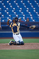 AZL Brewers Gold catcher Andres Melendez (22) during an Arizona League game against the AZL Brewers Blue on July 13, 2019 at American Family Fields of Phoenix in Phoenix, Arizona. The AZL Brewers Blue defeated the AZL Brewers Gold 6-0. (Zachary Lucy/Four Seam Images)