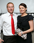 JP Rooney and Trish Connolly at the Civic Reception for Louth GAA Team in the dHotel....Picture Jenny Matthews/Newsfile.ie