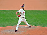 14 September 2008: Cleveland Indians' pitcher Rafael Perez on the mound in relief against the Kansas City Royals at Progressive Field in Cleveland, Ohio. The Royal defeated the Indians 13-3 to take the 4-game series three games to one...Mandatory Photo Credit: Ed Wolfstein Photo