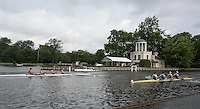 Henley on Thames. United Kingdom.  First race of the opening ady, haet of the wyfolde Challenge Cup, Left Waikato RC. NZL vs London RC.. Wednesday,  29/06/2016,   08:30:24   2016 Henley Royal Regatta, Henley Reach.   [Mandatory Credit Peter Spurrier/ Intersport Images]