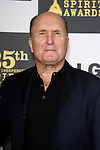 US actor Robert Duvall arrives at the 25th Independent Spirit Awards held at the Nokia Theater in Los Angeles on March 5, 2010. The Independent Spirit Awards is a celebration honoring films made by filmmakers who embody independence and originality..Photo by Nina Prommer/Milestone Photo