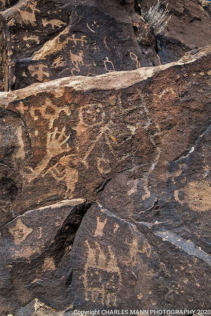 San Cristobal Pueblo in the Galesteo Basin near Santa Fe is one of the largest abandoned pueblo sites in New Mexico and the location also features some outstanding examples of rock art, also known as petroglyphs.