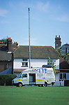 The police set up a surveillance vehicle on the  green  at the Horsmonden horse fair in Kent.  On this occasion the police were preventing Romany  gypsies from reaching the green in Horsmonden where a horse fair had been occurring  for many years by creating an exclsion zone around the Kent village.