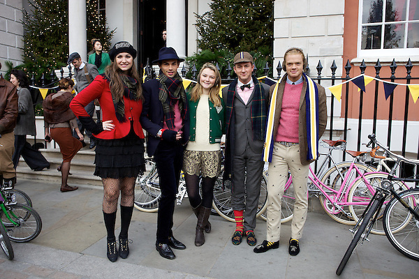 Gabilicious, Mark-Francis Vandelli, Amber Atherton and Francis Boulle from Made in Chelsea at The Tweed Run, London