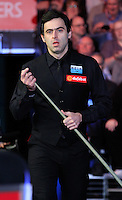 Ronnie O'Sullivan enters the arena before the Dafabet Masters FINAL between Barry Hawkins and Ronnie O'Sullivan at Alexandra Palace, London, England on 17 January 2016. Photo by Liam Smith / PRiME Media Images