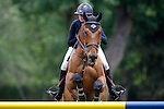 France's jockey Alexandra Paillot with the horse Wyazint JWB during 102 International Show Jumping Horse Riding, King's College Trophy. May, 20, 2012. (ALTERPHOTOS/Acero)
