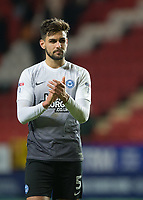 Ryan Tafazolli of Peterborough United applauds the fans during the Sky Bet League 1 match between Charlton Athletic and Peterborough at The Valley, London, England on 28 November 2017. Photo by Vince  Mignott / PRiME Media Images.
