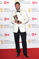 O-T Fagbenle in the winners room for the BAFTA TV Awards 2018 at the Royal Festival Hall, London, UK. <br /> 13 May  2018<br /> Picture: Steve Vas/Featureflash/SilverHub 0208 004 5359 sales@silverhubmedia.com