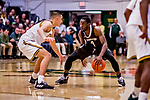 18 December 2018: St. Bonaventure University Bonnies Guard Nelson Kaputo, a Senior from Toronto, Ontario, in second-half action against the University of Vermont Catamounts at Patrick Gymnasium in Burlington, Vermont. The Catamounts defeated the Bonnies 83-76 in a double-overtime NCAA DI game. Mandatory Credit: Ed Wolfstein Photo *** RAW (NEF) Image File Available ***