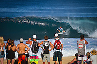 PIPELINE, Oahu/Hawaii (Wednesday, December 15, 2010) - Adrian Buchan (AUS).   Day 2 of the Billabong Pipe Masters in Memory of Andy Irons, the third and final stop on the Vans Triple Crown of Surfing (an ASP Specialty Series) got underway today, with Rounds 3 to 5 completed in challenging five foot (2 metre) waves at theBackdoor Pipeline on Oahu's North Shore..Kelly Slater (USA) scored the first perfect 10 point wave of the event, Dusty Payne (HAW) advanced past Round 3 and qualified for next years Top 32 and Stephanie Gilmore won her third Triple Crown of Surfing when she won the Duel for the Jewel from Tyler Wright (AUS) 2nd, Coco Ho (HAW) in 3rd and Alana Blanchard (HAW) in 4th.. .The final stop on the 2010 ASP World Tour, the Billabong Pipe Masters in Memory of Andy Irons utilised the ASP's Dual Heat Format again today, overlapping the man-on-man matches to take advantage of the swell on offer. With a smattering of Pipeline specialists lining the field, the world's best surfers campaigned against one another and the elements to ensure their position amongst the world's best surfers for 2011...Photo: joliphotos.com