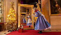BNPS.co.uk (01202 558833)<br /> Pic: PhilYeomans/BNPS<br />  <br /> Hall of Mirrors...<br /> <br /> An Alice in Wonderland spectacular takes over historic Blenheim Palace in Oxfordshire this Christmas ...<br /> <br /> Britains only non-royal Palace has been transformed into a sound and light fantasy vision of the famous Lewis Carol Victorian novel, complete with a real life Alice to show the visitors around.<br /> <br /> Sir Winston Churchill's birthplace has been decked out with its own rabbit-hole corridor, hall of mirrors and pool of tears.<br /> <br /> Its famous long library is the scene of the Mad Hatter's Tea Party, while White Rabbit can be found in the sitting room.