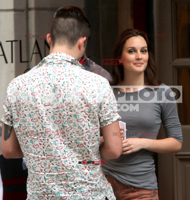 August 10, 2012  Leighton Meester shooting on location for  Gossip Girl in New York City.Credit:&copy; RW/MediaPunch Inc. /NortePhoto.com*<br />