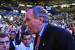 Chicago Mayor Richard M. Daley finds his way to his seat on the floor with the Illinois delegates at the Democratic National Convention at the Pepsi Center in Denver, Colorado on August 25, 2008.