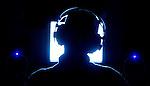 Music producer Mark Mopic listening to tracks for the new The Youth Ahead CD at his Belmar, N.J. studio...Summer 2003..MARK R.SULLIVAN/markrsullivan.com © 2003