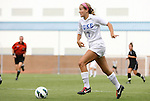 24 August 2012: Duke's Katie Trees. The Duke University Blue Devils defeated the University of Montreal Caribins 4-1 at Fetzer Field in Chapel Hill, North Carolina in an international women's collegiate friendly game.